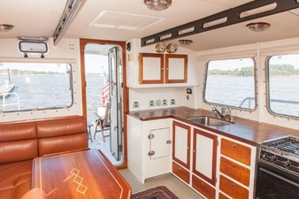 STARLIGHT 7 Pilothouse Port Side, Showing New Windows