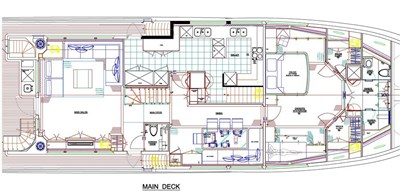 Main deck option with master on main deck and saloon