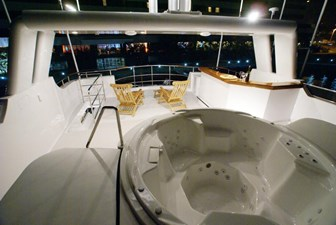 Flybridge looking aft (sistership)