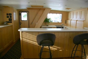 Main Deck Salon/galley looking aft