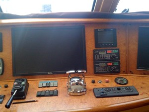 Pilothouse helm console