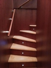 Aicon 85 Flybridge - Wooden Staircase