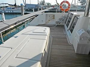 Lagon 620 - Stowage area on aft deck