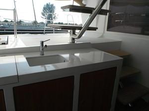 Lagon 620 -  Sink on aft deck