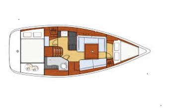 2009 Beneteau Oceanis 34 - layout