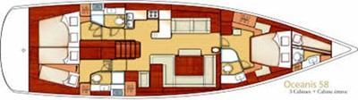 Beneteau Oceanis 58 7 Beneteau Oceanis 58 2011 BENETEAU Oceanis 58 Cruising Sailboat Yacht MLS #217228 7