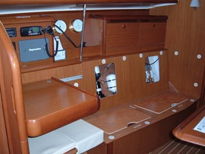 Lagazuoi  22 Starboard settee and nav station