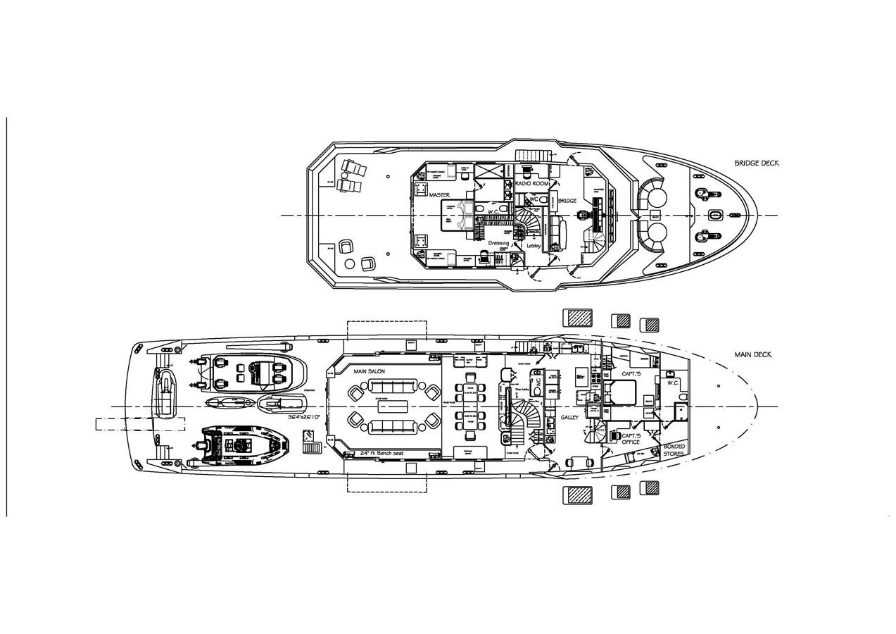 Master deck and wheelhouse