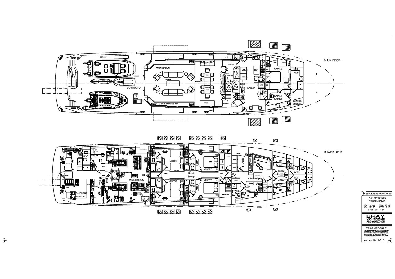 Main deck and lower deck