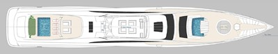 ACURY SSY 125 8 ACURY SSY 125 Super Sport Yacht General Arrangement Sun Deck