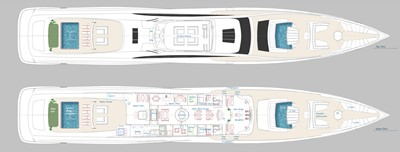 ACURY SSY 125 9 ACURY SSY 125 Super Sport Yacht General Arrangement Owner Deck