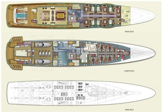 ACURY Mega Yacht Project Triton 87m General Arrangement