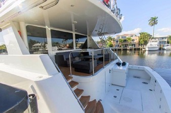 GOLDEN TOUCH 5 COCKPIT - Showing Stairs to Aft Deck
