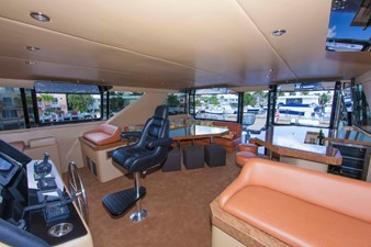 GOLDEN TOUCH 31 ENCL PILOT HOUSE/SKYLOUNGE - Looking aft from Helm to Aft Deck