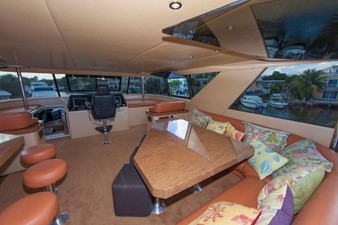 GOLDEN TOUCH 36 ENCLOSED FLYBRIDGE - Looking aft at Settee/Lounge