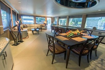 GOLDEN TOUCH 51 MAIN SALON - Looking Aft - Dining Area to Right