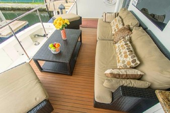 GOLDEN TOUCH 58 AFT DECK - Looking to Port