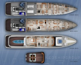 ACURY Mega Yacht Project SEA BULL 65m General Arrangement