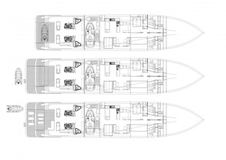 ACURY MY 39 7 ACURY Motor Yacht 39m General arrangement aft deck with extension
