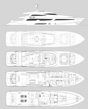ACURY MY 39 6 ACURY Motor Yacht 39m General arrangement