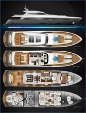 ACURY Motor Yacht 35m fly General arrangement