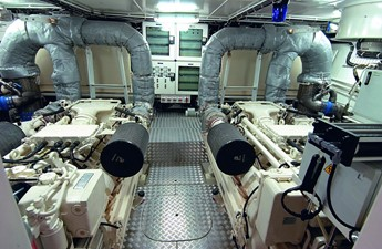 ACURY Motor Yacht 27m Sister ship engine room
