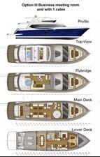 ACURY MY 30 30 ACURY Motor Yacht 30m Layout option 3
