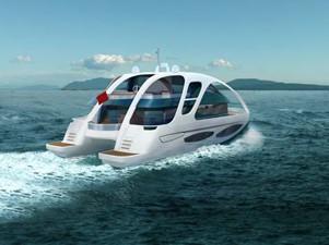ACURY CAT 22 V1 1 Catamaran fly bridge motor yacht 22m