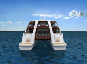 Catamaran fly bridge motor yacht 22m