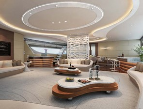 Catamaran fly bridge motor yacht 22m interior