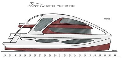 ACURY CAT 22 V1 10 Catamaran fly bridge motor yacht 22m layout
