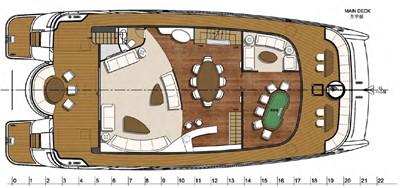Catamaran fly bridge motor yacht 22m layout with play ground pockertable