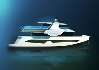 ACURY Catamaran fly bridge 22m exterior version2
