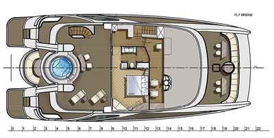 ACURY Catamaran fly bridge 22m layout