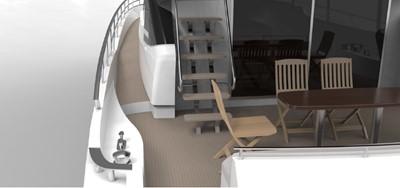 ACURY Motor Yacht fly bridge 21m rendering