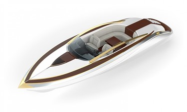Ultimate Mega Yacht Tender 12m White and Gold