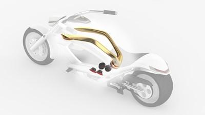 Ultimate Mega Yacht Bike White and Gold