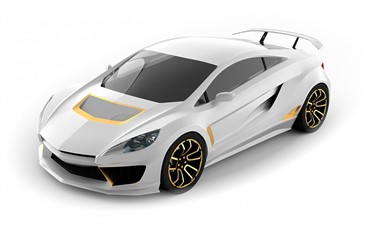 Ultimate Mega Yacht Car White and Gold