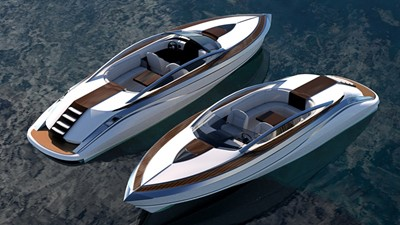 Ultimate Mega Yacht Tender 12m White and Silver