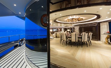 OKTO 33 Dining Room And Port Side Main Deck