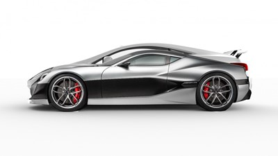 ACURY MYT 12 Hybrid and Electric 10 Gray and Rimac Electric Super Car overlap
