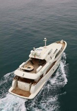 Luxury steel hull and aluminum superstructure.