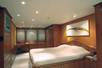 On deck master stateroom with king bed