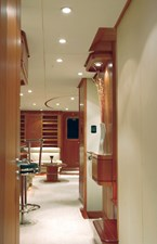 Looking aft from master stateroom