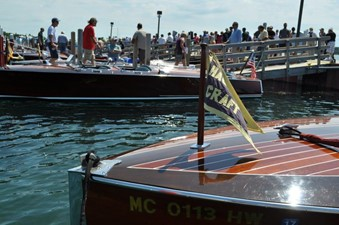 GAD-A-BOUT 21 Displayed at a major antique boat show