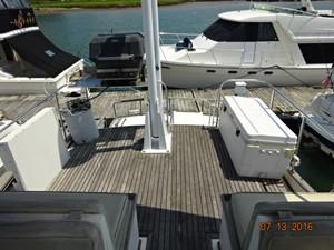 36' Grand Banks flybridge aft