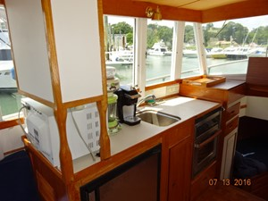36' Grand Banks galley
