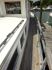 36' Grand Banks starboard side deck photo2