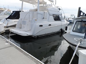 View of Hard Top & Bimini Top off Boat to make new one