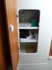 Miscellaneous Storage in Hallway to Forward Cabin